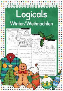 logicals winter / weihnachten - unterrichtsmaterial im fach deutsch | winter weihnachten