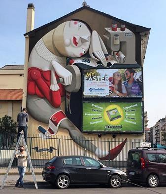 "ZED 1, ""Cuci Milano"" in Milan, Italy, 2017"