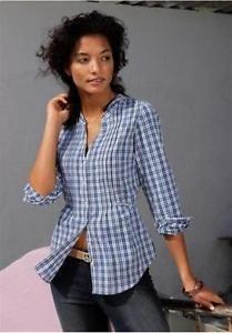 Damen Bluse von AJC in blau/weiß kariert Größe 40 NEU***   eBay