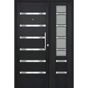 Las 25 mejores ideas sobre puertas metalicas modernas en for Puerta y media de aluminio