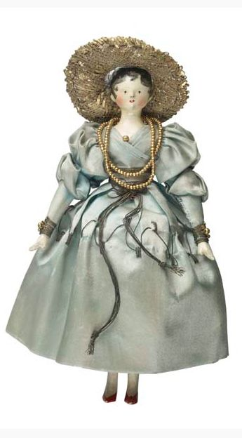 """Rebekah, Duchess of Mountjoy"", one of Queen Victoria's childhood dolls (1831-33)~Image © Museum of London"