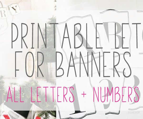 The  Best Printable Letters For Banners Ideas On