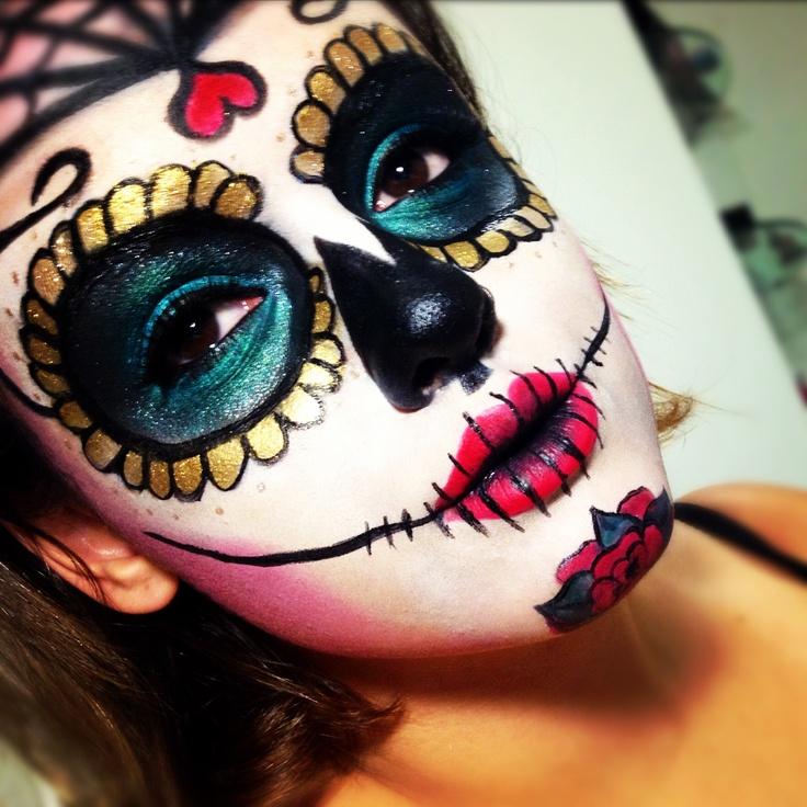 Catrina makeup maquiagens art sticas pinterest makeup for Halloween makeup tattoos