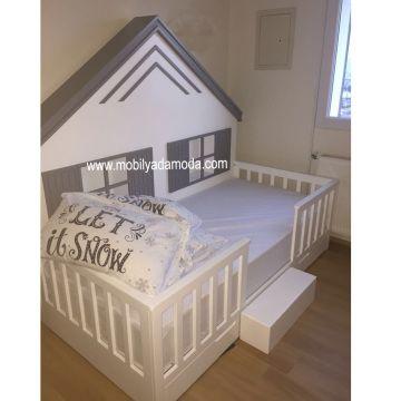 izmir bebek odası|izmir çocuk odası|mobilyadamoda|bebek odası|çoçuk odası|beşik izmir|ranza,izmir,yer yatağı,montessori yatağı,çocuk odası,montessori yer yatağı, kişiye özel tasarım, özel tasarım mobilya, özel üretim mobilya, izmir çocuk odası, genç odası,Montessori, ~ Arkası Çatılı Yer Yatağı 90x190 Pembe