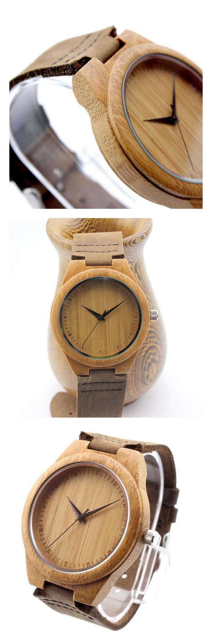 Bamboo, Bamboo and Bamboo: VOSICAR Retro Leather Fashion Bamboo Wooden Watch. Lightweight and comfortable on the wrist, Healthy and comfortable (Non-toxic Hypo-allergenic), Fashion design watch wood with genuine leather strap. #VOSICAR #KhaValeri http://www.pinterest.com/KhaValeri/    kha_amz_VOSbamboo1405_v18