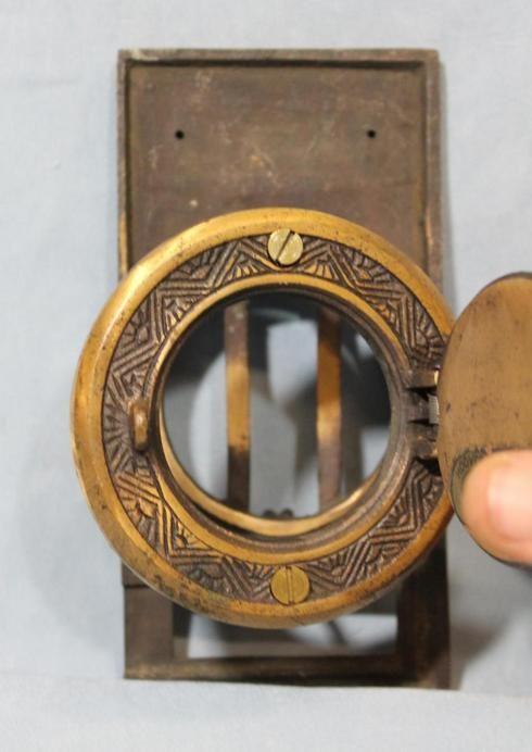 Antique Prohibition Barroom Speakeasy Speak A View *Peephole Door Knocker