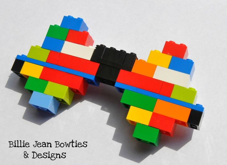 handmade bowtie  made with real LEGO®  comes with adjustable strap  For Men and Women  bow ties made to order and   6 x 3 inches  Shop: www.billiejeanbowties.com