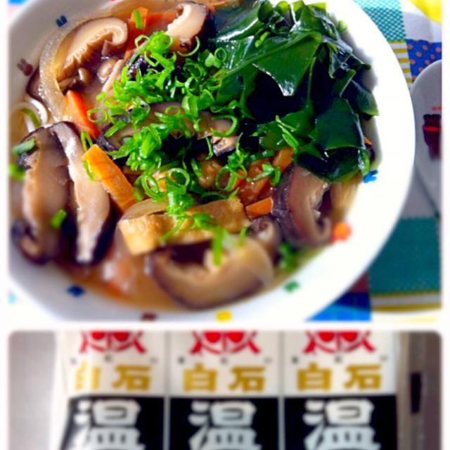 白石温麺を戴いたので、お昼ご飯に。 あったまりました♪ - 20件のもぐもぐ - 温麺 by Maples