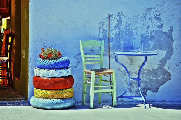 Aegean Colours - Still Life Photography Located in Syros Greece.