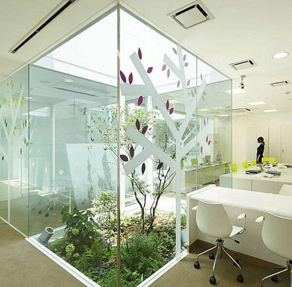 Inside office garden