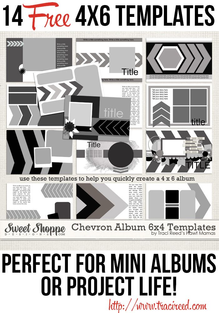 Create a Perfectly Chevron-tastic MiniAlbum (or Project Life Card!) in Minutes with this FREE Brag Book Template Album!