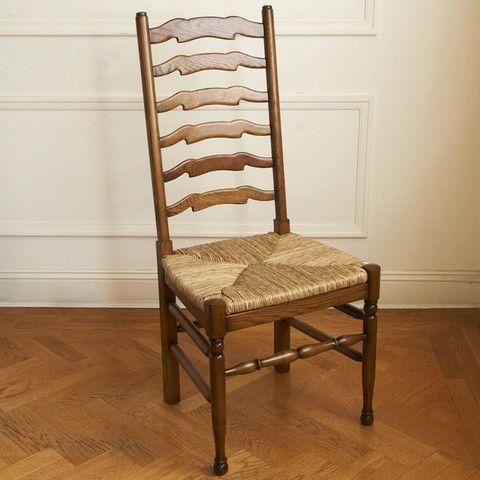 Ladderback Rush Seat (Oak or Cherry) #decor #interiordesign #gaudionfurniture #style #homeinterior #diningchairs