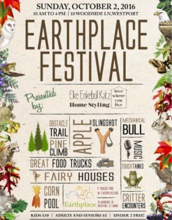 This Sunday, Westport, Connecticut will be hosting the 3rd Annual Earthplace Festival. This event is one of the largest annual fundraisers to benefit scholarships, education programs and community outreach.   Great event for families and anyone just looking to enjoy the autumn weather.  http://ow.ly/nxwK304GAID