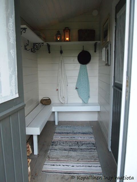 Kopallinen inspiraatiota Ulkosaunan sisustus. Outdoor sauna.