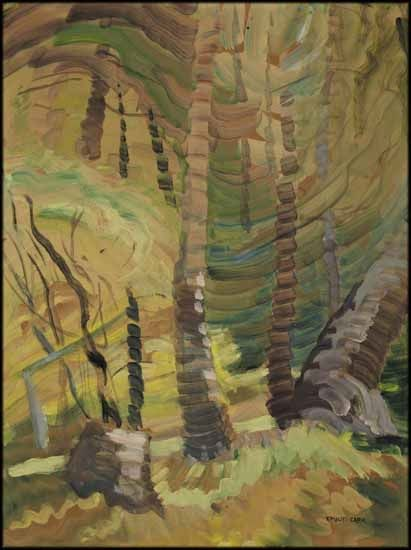 Spring No. 3, c 1938. Emily Carrl oil on paper on board. Private collection