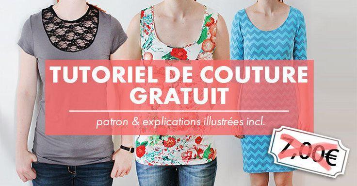 """T-shirt, débardeur et robe """"Valery"""" tailles XS à 4XL - Patron et explications - Patrons et tutoriels de couture chez Makerist - Temporairement gratuit"""