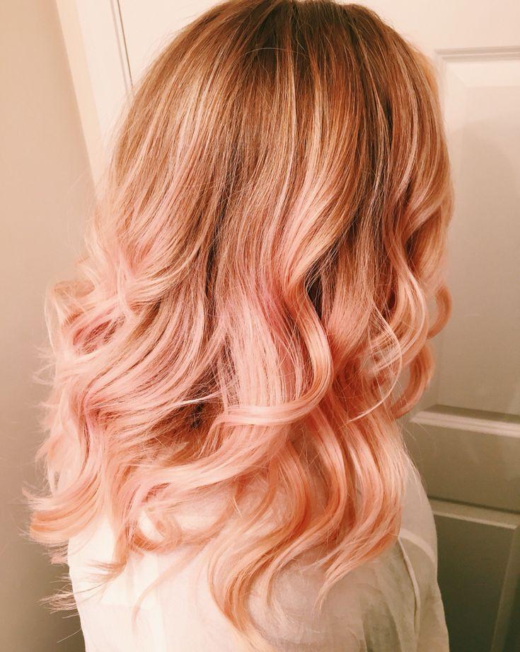 Персиково розовый цвет волос