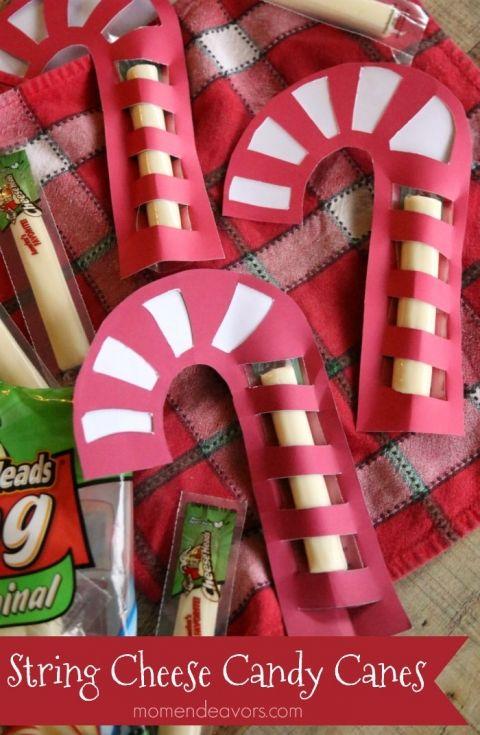 String Cheese Candy Canes