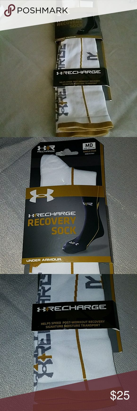 RECHARGE  RECOVERY SOCKS UNDER AMOUR MED SOCKS Under Armour Underwear & Socks Athletic Socks