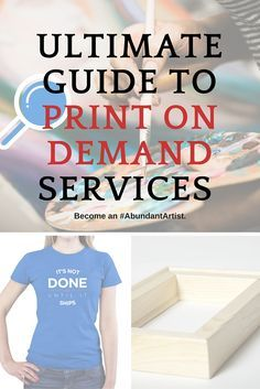 Many artists are curious about using print on demand (POD) services to sell and ship their art. There are many reputable sites out there and some information to keep in mind. We've compiled tips and tricks for understanding how POD sites work and how they can best benefit your art business. About Us: The Abundant Artist is the #1 resource for helping artists sell art online.