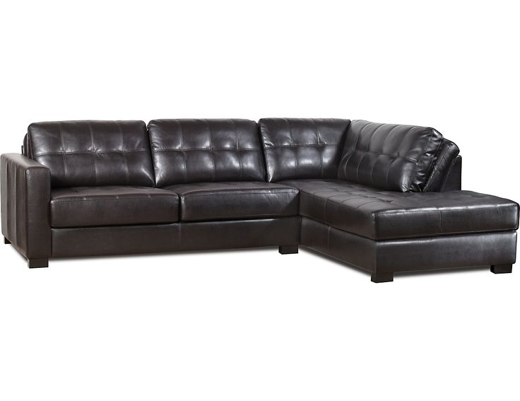 Zandria 2-Piece Right-Facing Sectional u2013 Brown-Black (ZAND3RSEC) | The Brick | Condo ideas | Pinterest | Condos Bricks and Catalog  sc 1 st  Pinterest : the brick leather sectional - Sectionals, Sofas & Couches