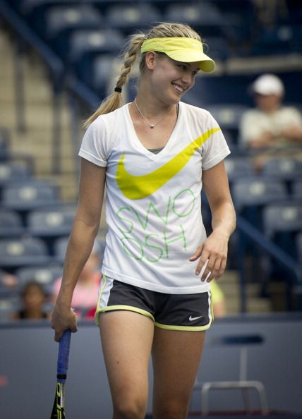 Eugenie Bouchard. I was terribly disappointed she beat Ivanovic (who was injured and just plain tired), but Bouchard is the one to watch. I have much more interest in her than Jamie Hampton, Laura Robson or even Sloane Stephens. She will go far