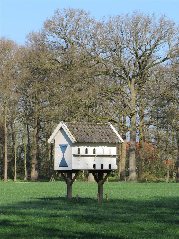 2017-04-09 Grote duiventil bij kasteel 't Nijenhuis nabij Heino