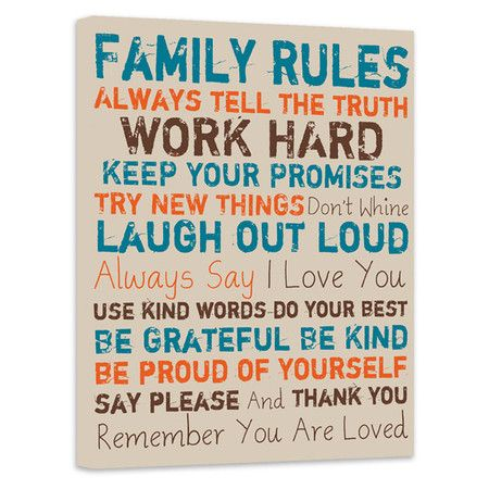 Family Rules Canvas Print III