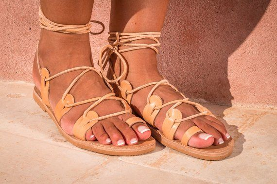 43ee8bc99b3d9 Lace up sandals / Tie up sandals / Spartan sandals / Gladiator ...