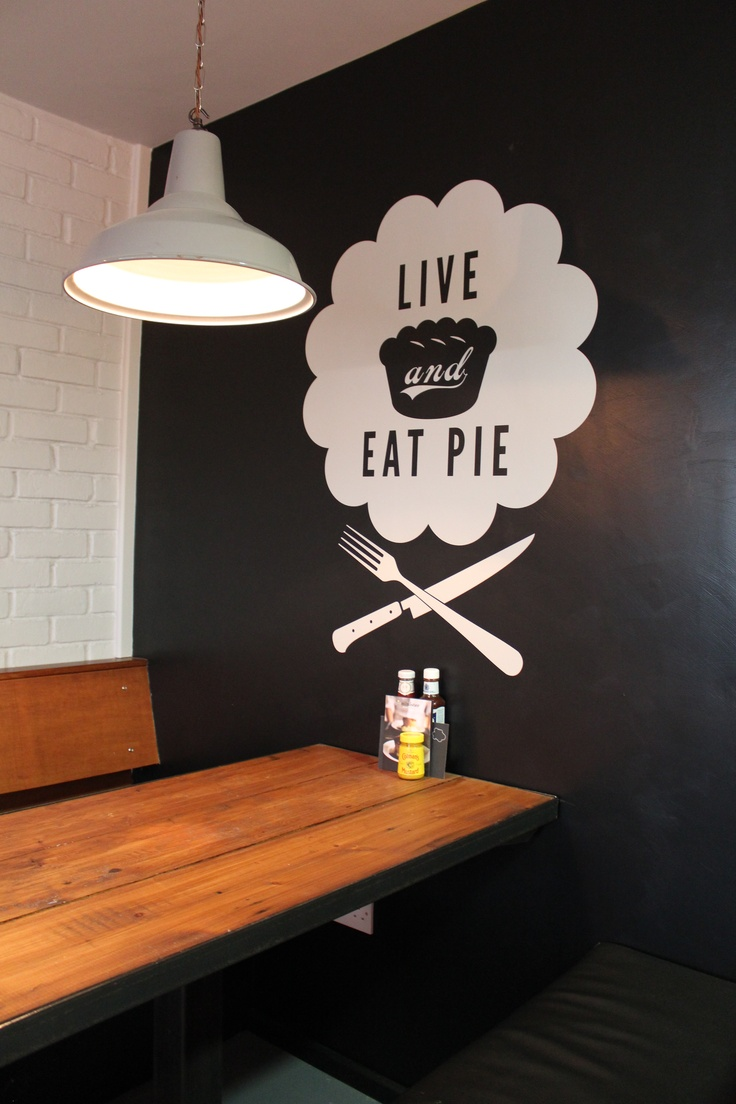 Live and Eat pie! Leather Lane shop, London
