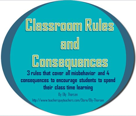 Teaching with Elly Thorsen: My Classroom Rules and How I Enforce Them