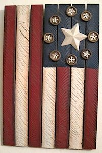Primitive Wood Crafts | Here are several ways of making a flag, and more ideas for using the ...