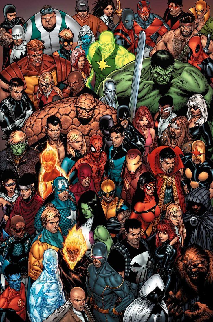 Marvel U ~ art by Steve McNiven