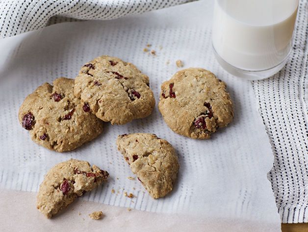 Cranberries mixed with coconut is a win-win in these gluten-free cookies!