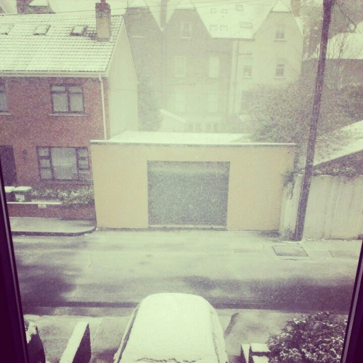 Snow in March! Rathgar, Dublin