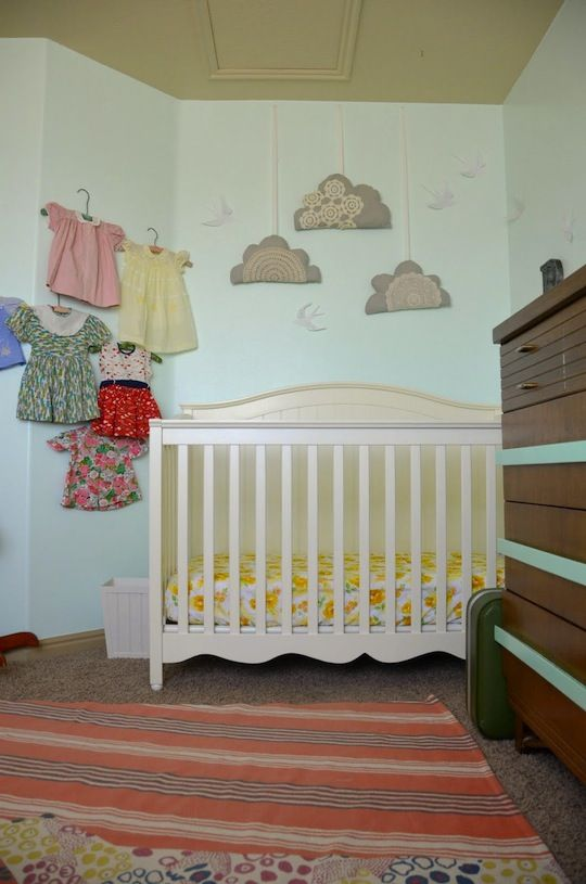 Loved these clouds! Ended up sewing my own for Lucia's room.