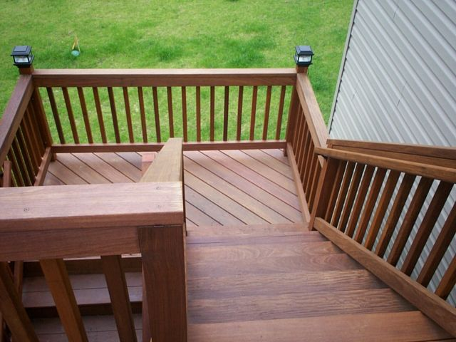 Hardwood Deck Stairs in St. Louis County - Design Ideas - Archadeck