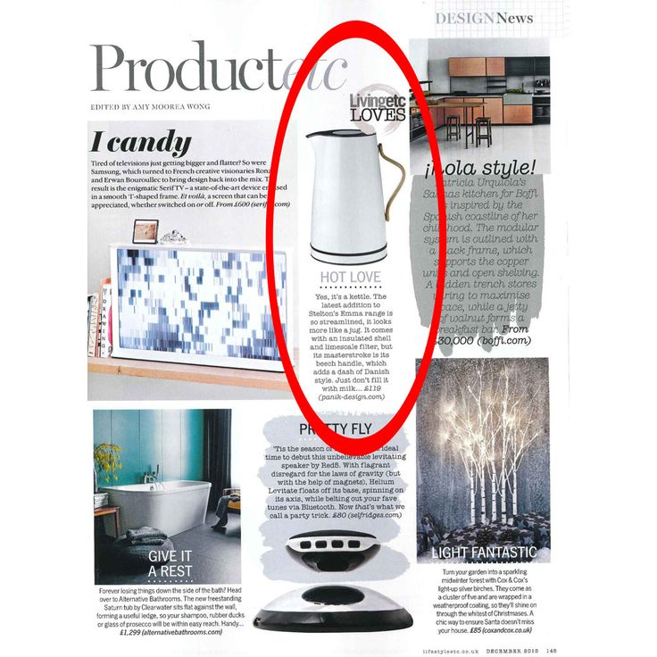 Panik Design featured in @LivingetcUK's December issue with @steltondesign's Emma Kettle