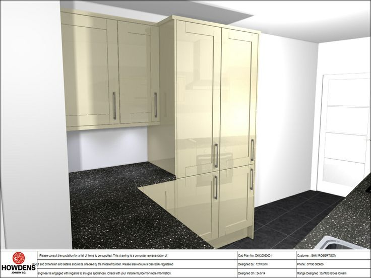 Kitchen design ... Boxed in boiler and pull out larder