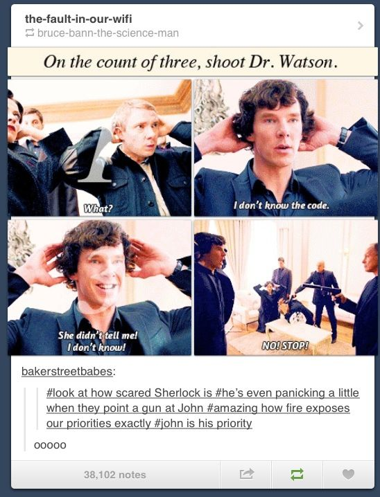 I thought about that, too... just the way Sherlock almost seemed to panic because he didn't know it. Somehow— to me, anyway— it seemed to show how much he really cared.