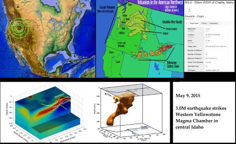 EARTHQUAKES AND VOLCANO ACTIVITY, EARTHQUAKES AND VOLCANOES 5/09/2015 — WESTERN YELLOWSTONE MAGMA CHAMBER MOVEMENT — DORMANT VOLCANIC ACTIVITY RISING MAY 9, 2015 MICHAEL JANITCHLEAVE A COMMENT Yesterday (May 8th) I made a full post about how the 10 most recent earthquakes in California were at dormant volcanic locations.  This California dormant volcano movement follows the news that a new volcanic eruption is occurring off the West coast of the United States near Oregon.  Today (May 9th)…