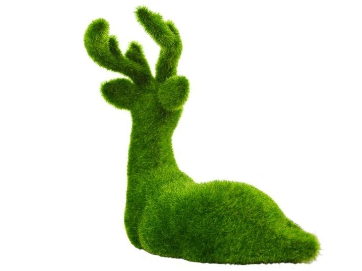 B0436 - Christmas Reindeer Laying Artificial Grass Animal Statue - 3 - B0436 - Christmas Reindeer Laying Artificial Grass Animal Statue - 3.jpg