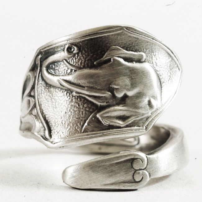 Elephant Ring, Elephant Head, Spoon Ring Sterling Silver, Tulip Flower, Good Luck Elephant, Gift for Her, Adjustable Ring, Boho Ring (1737) by Spoonier on Etsy https://www.etsy.com/listing/217226925/elephant-ring-elephant-head-spoon-ring