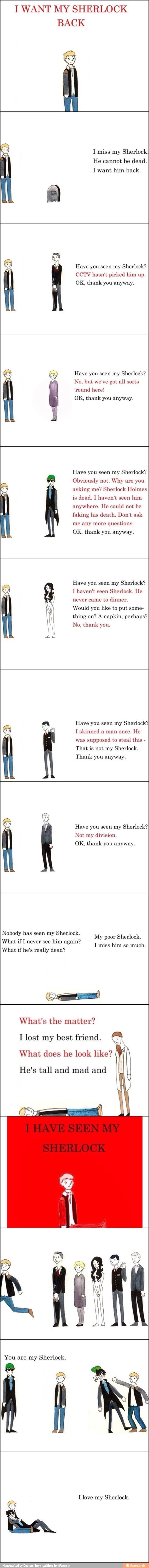 Have you seen my Sherlock? Parody of I Want My Hat Back