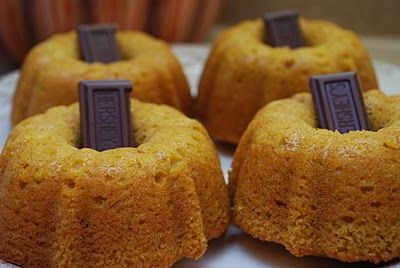 Pumpkin Bread with Chocolate Stems