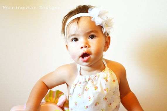 Vintage style backless baby romper. Choose by morningstardesigns2, $30.00