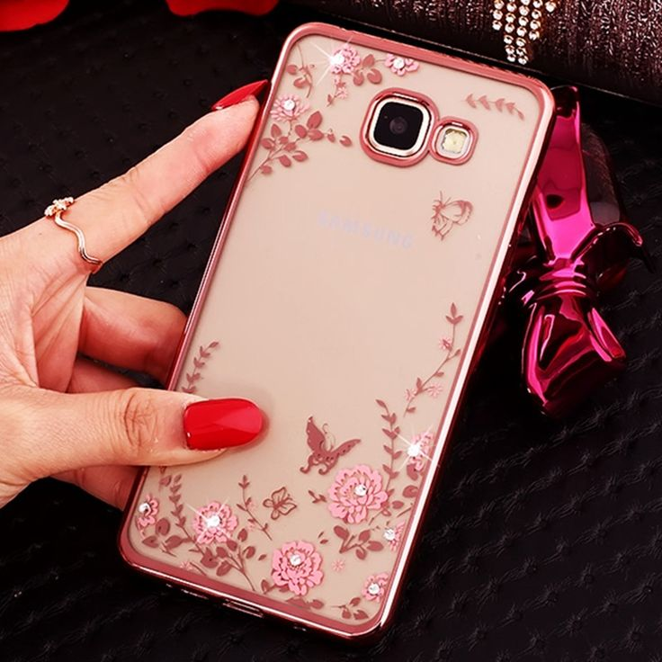 Mobile Phone Bags Cases Flora Diamond Case For Samsung Galaxy A3 2016 Case Chic Flower Bling Soft Tpu Clear Cover For A3 A5 Samsung Galaxy A3 Phone Cases Case