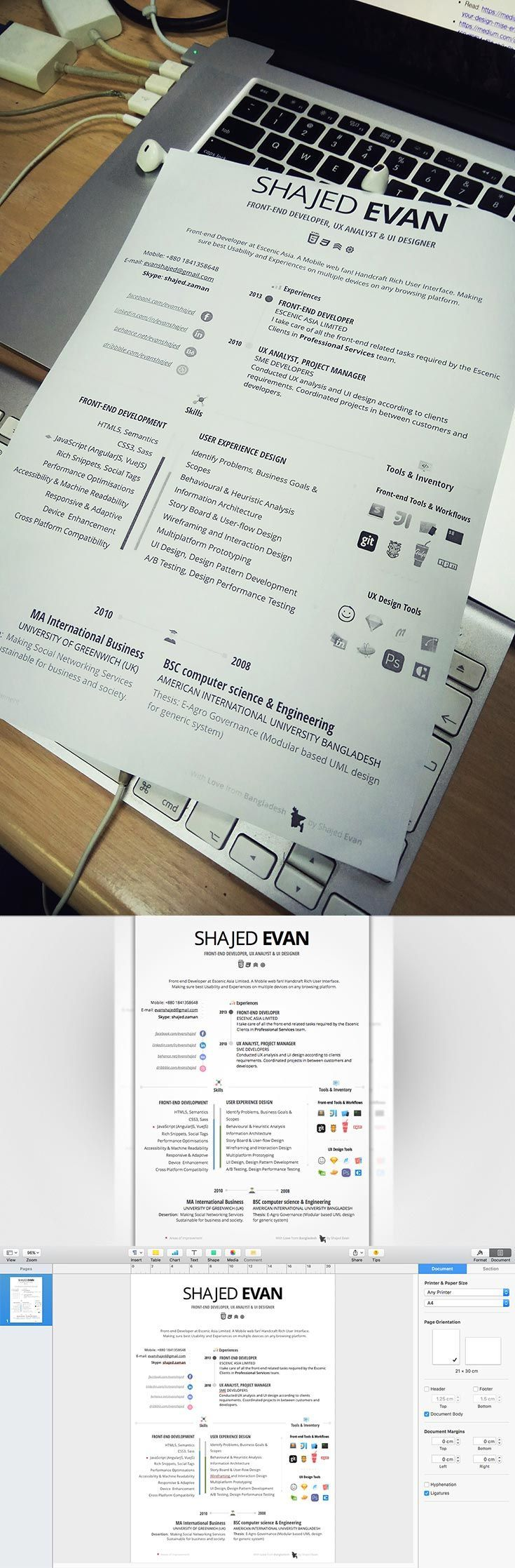 mac pages resume templates%0A Free  Creative  Resume is an awesome resume designed with Pages for  mac