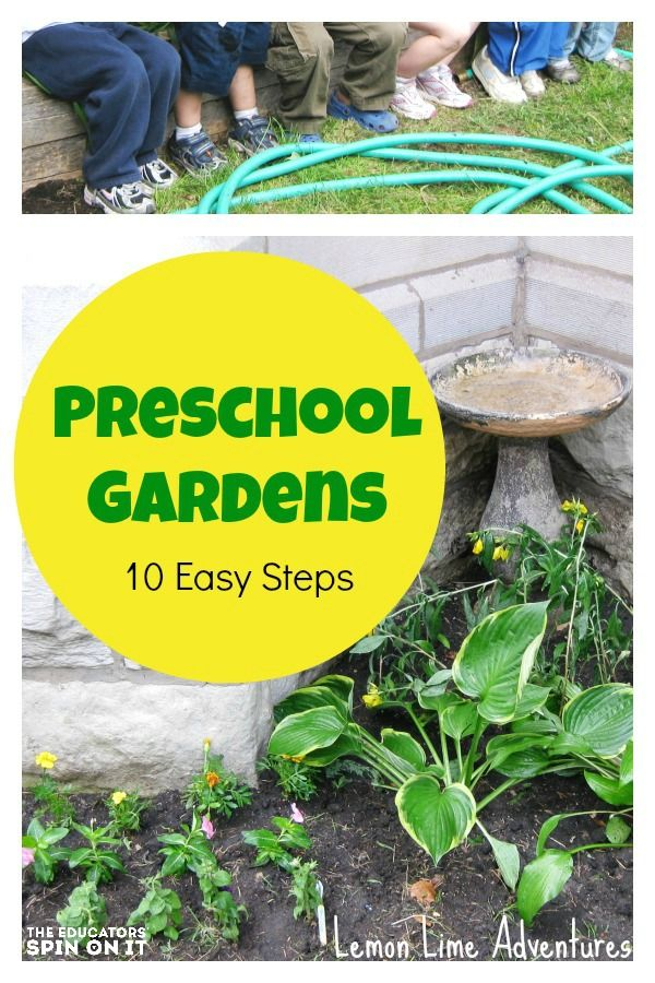 Preschool garden in 10 Easy Steps with Kids. Follow a few simple ideas to create a learning garden this spring with kids.