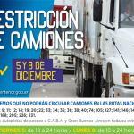 Restricción a la circulación de camiones por fin de semana largo: Día de la Inmaculada Concepción de María 8 de diciembre